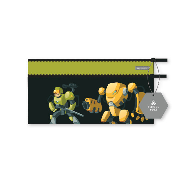 2 Zip Pencil Cases - Battle Bots