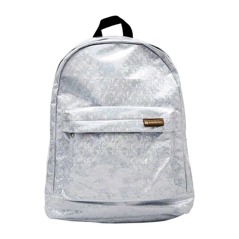 Harper Bee Backpack - Silver Hologram