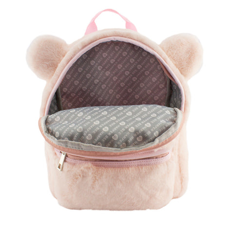 Harper Bee Backpack - Fluffy with ears Pink