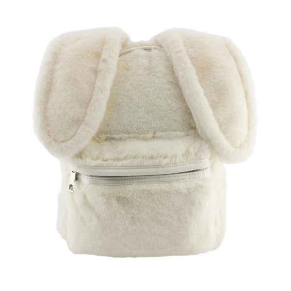 Harper Bee Backpack - Fluffy with ears White