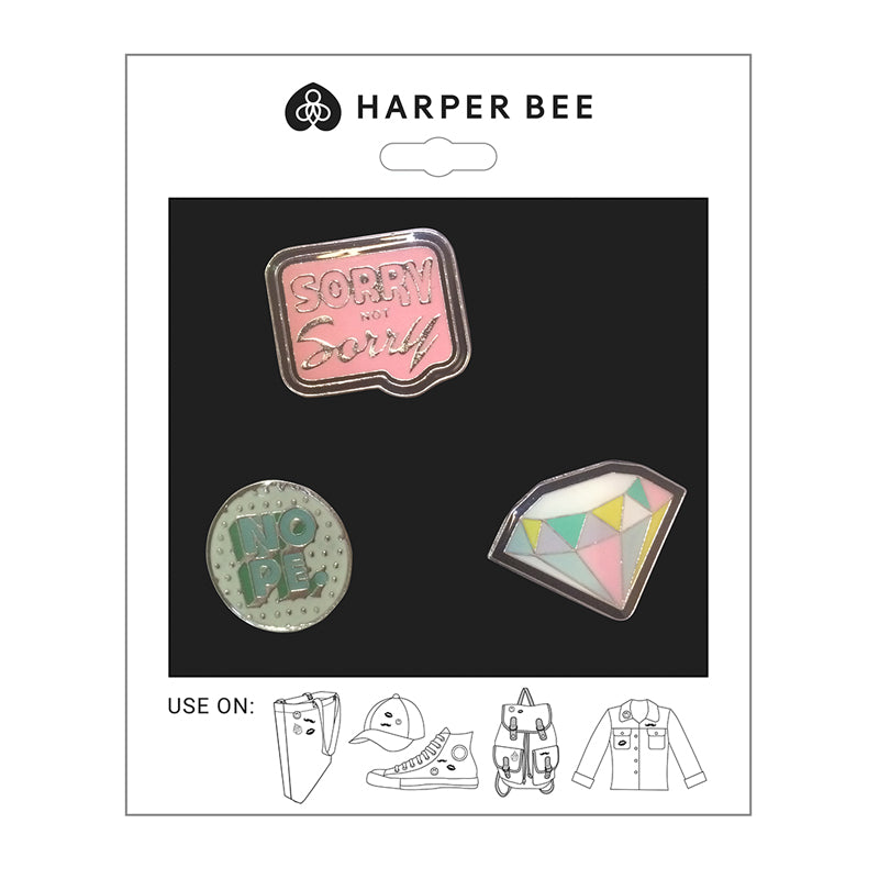 Harper Bee Badges - Diamond