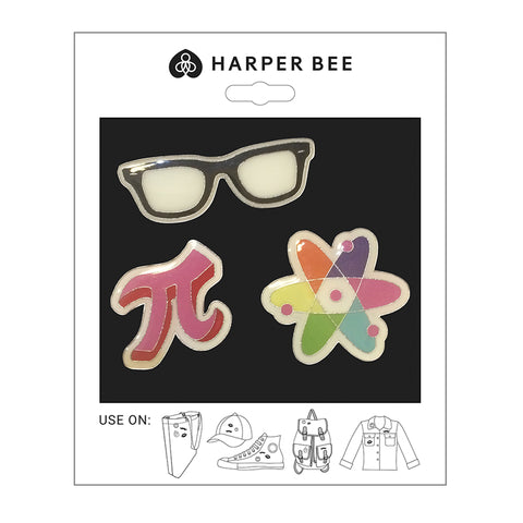 Harper Bee Badges - Geek