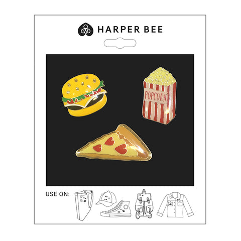 Harper Bee Badges - Junk Food