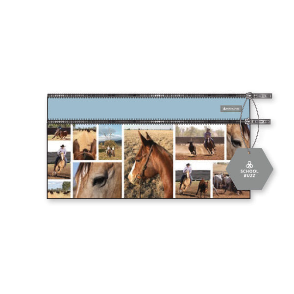 2 Zip Pencil Cases - Country Horse