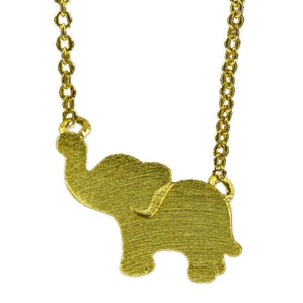 Harper Bee Necklace - Gold Elephant