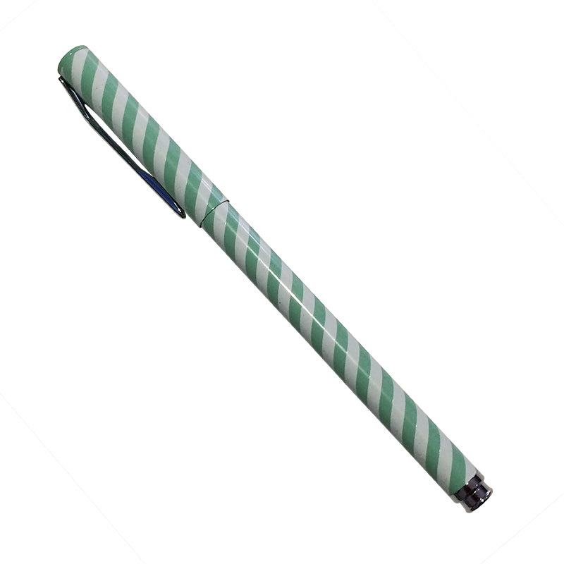 Harper Bee Pen - Aqua Stripe
