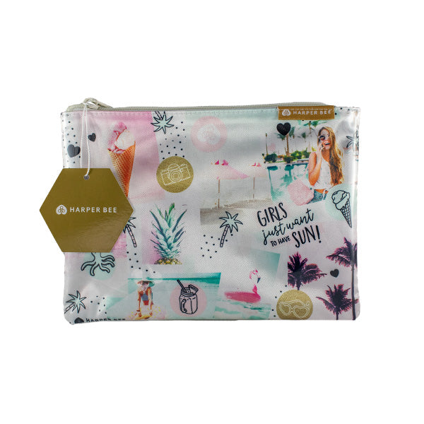 Harper Bee Glossy Pouch - Tropical Holiday