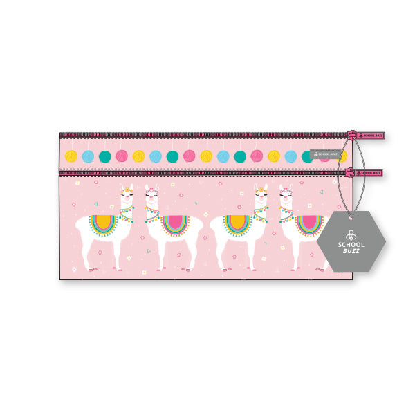 2 Zip Pencil Cases - Llamazing Llamas