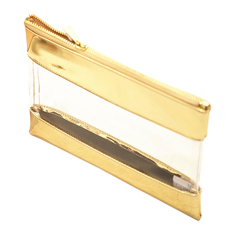 Harper Bee Pencil Pouch - Gold See-Through Middle