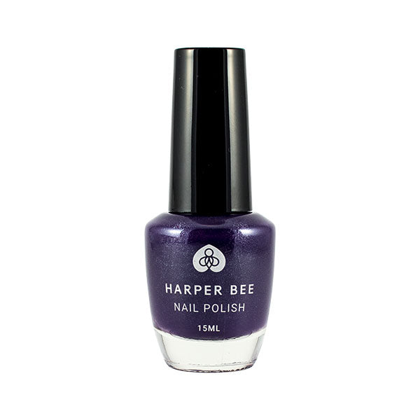 Harper Bee Nail Polish - Dark Purple (Queen Bee)