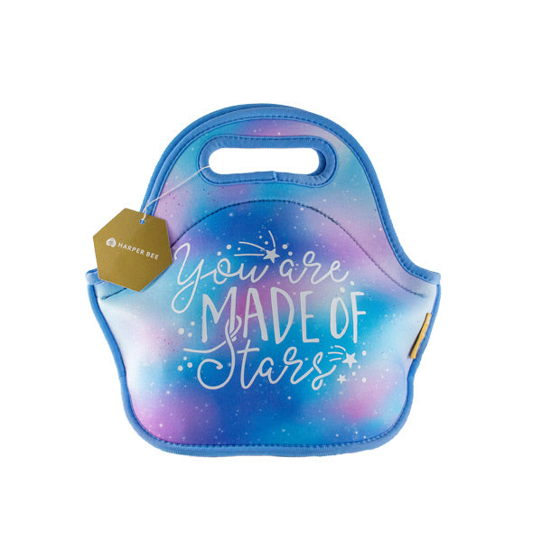Harper Bee Neoprene Lunch Bag - Pastel Galaxy Sky