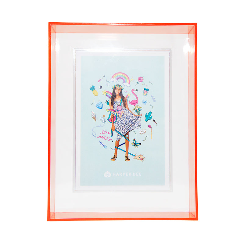 Harper Bee Neon Photo Frame - Coral