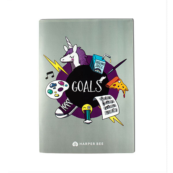 Harper Bee Book Cover A4 - Unicorn / Goals
