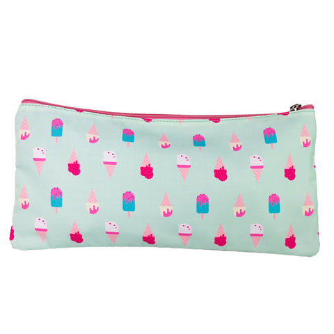 2 Zip Pencil Cases - Ice Cream Love
