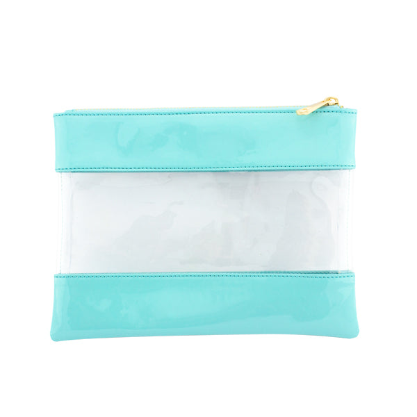 Harper Bee Pencil Pouch - Ice Blue See-Through Middle