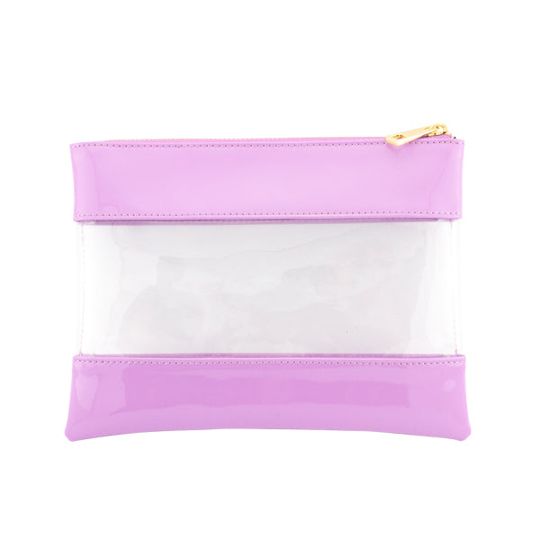 Harper Bee Pencil Pouch - Blueberry Smoothie See-Through Middle