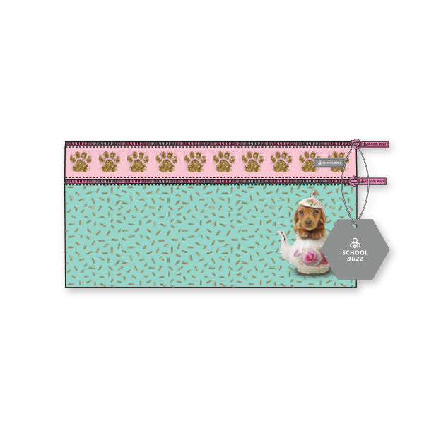 2 Zip Pencil Cases - Teacup Dogs