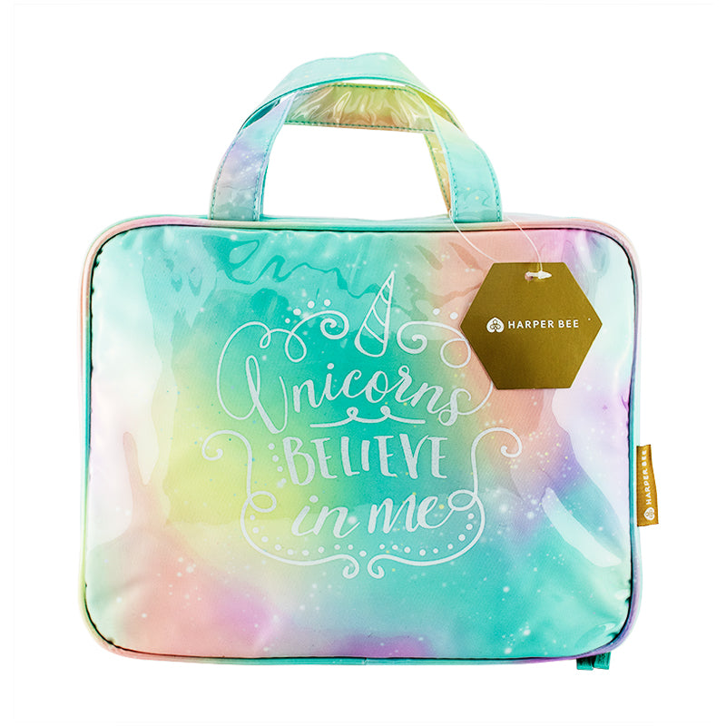 Harper Bee Toiletry Bag - Pastel Galaxy