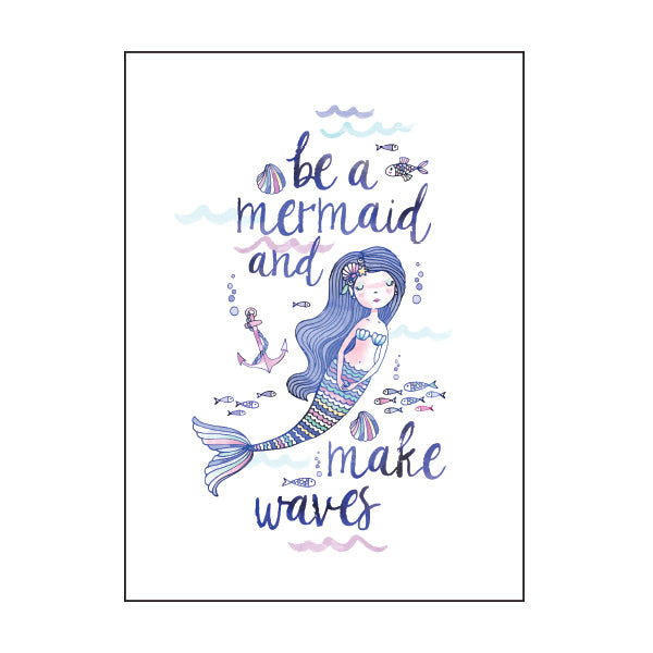 Exercise Book Cover - WATERCOLOUR MERMAID
