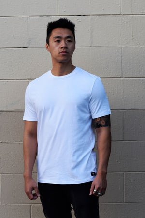 ADAN Tee in White