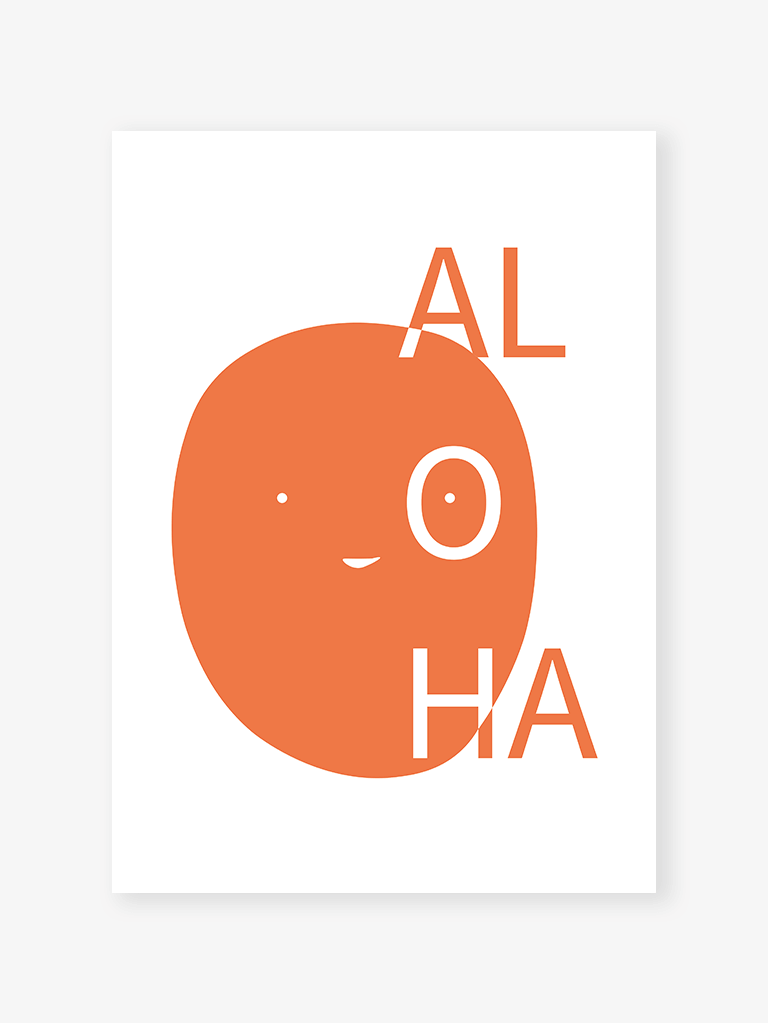 Aloha orange | Art Print