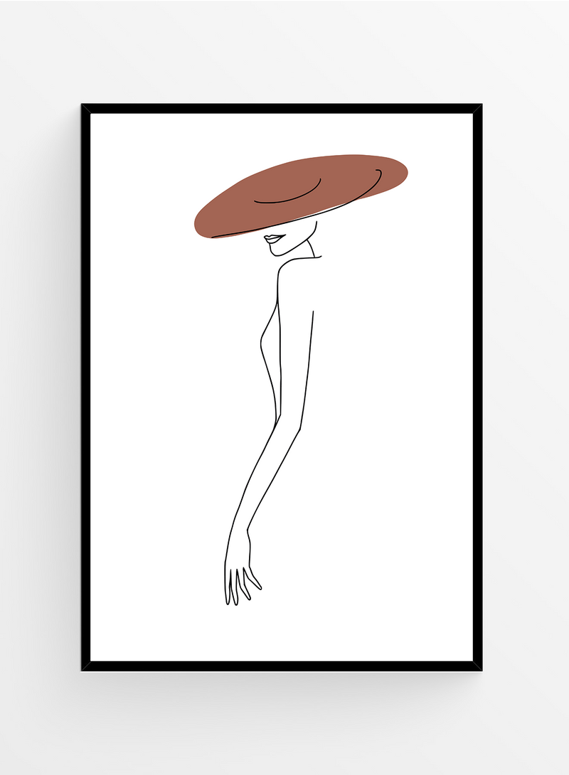 Hat only I Art Print