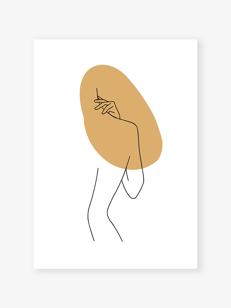 Body of lines I Art Print