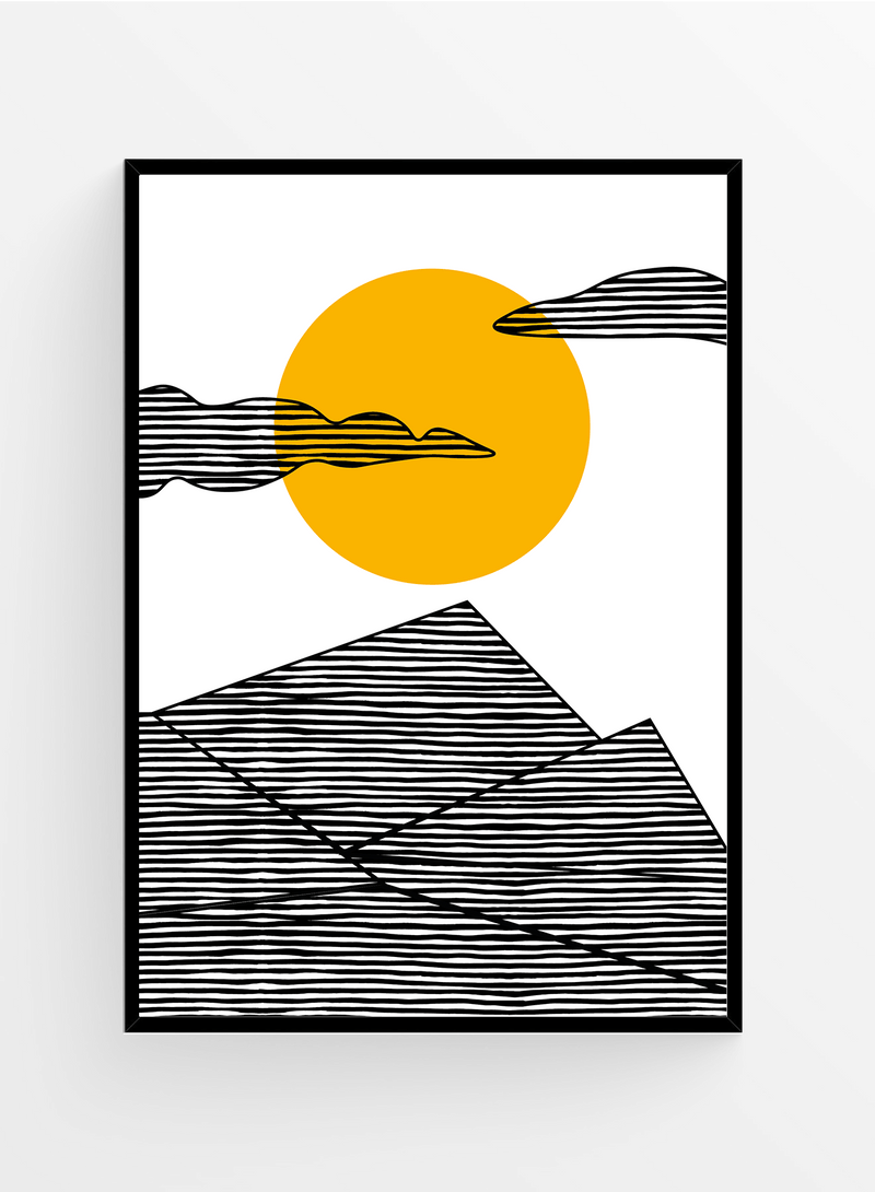 Sunlines I Poster 21x30cm
