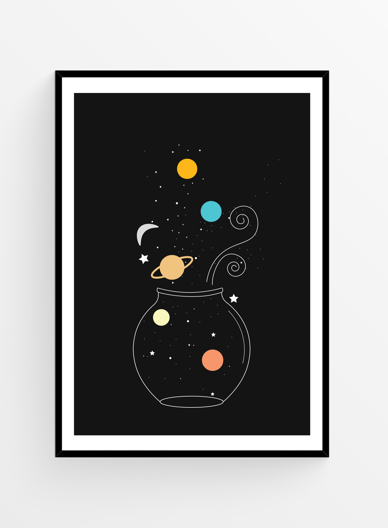 Galaxy Jar | Art Print