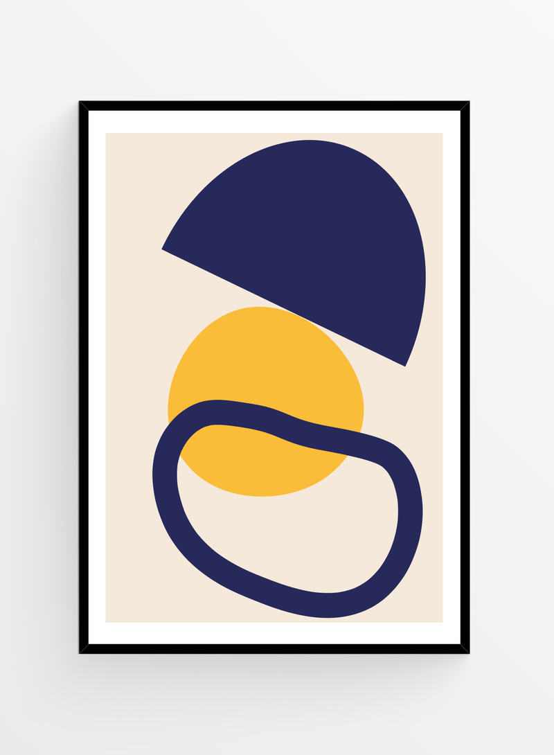 Blue & Yellow | Art Print