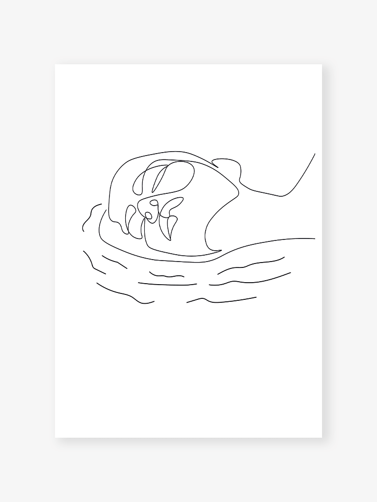 Sea inside me (white) | Art Print