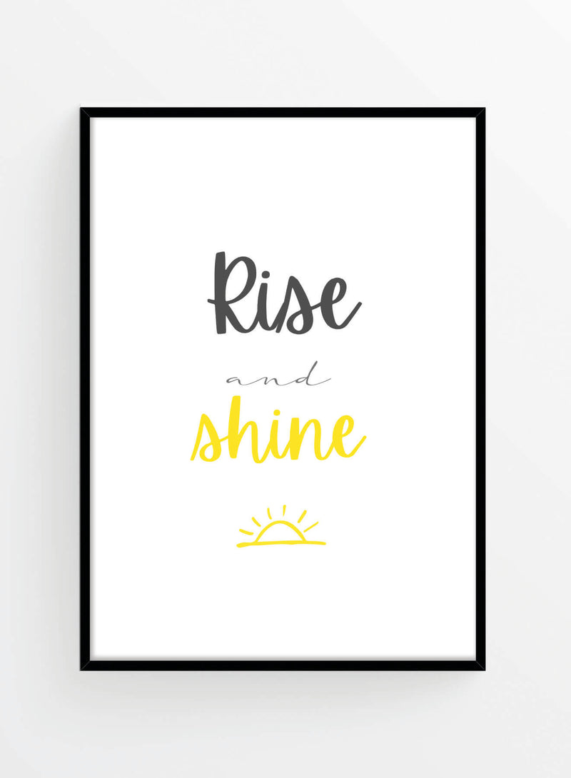 Rise and shine | Poster