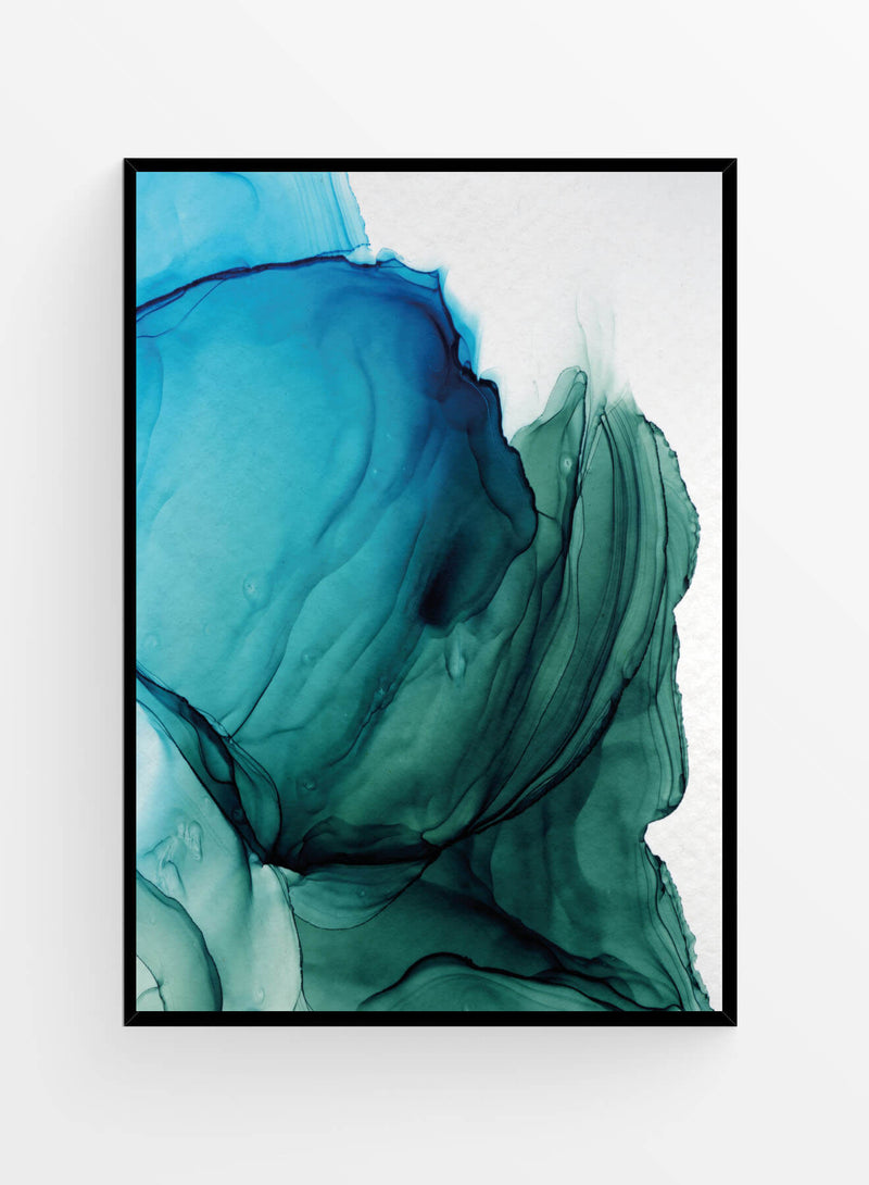 Ink turquoise tones | Poster 30x40cm