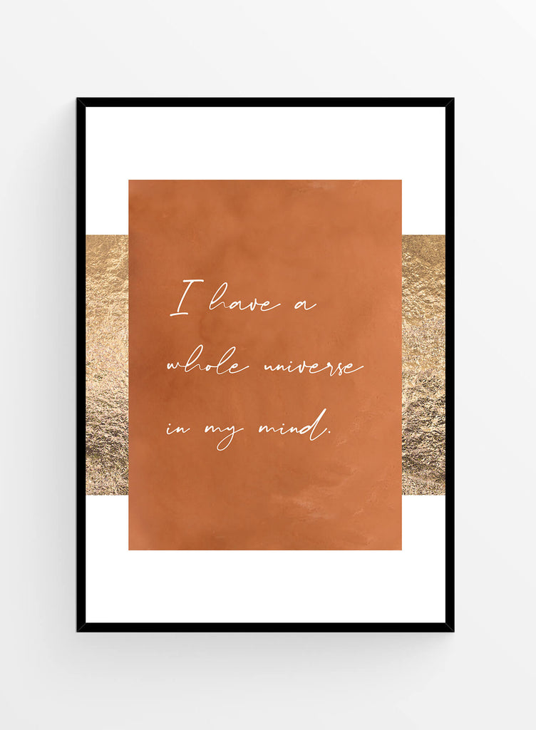 Universe in my mind I Art print