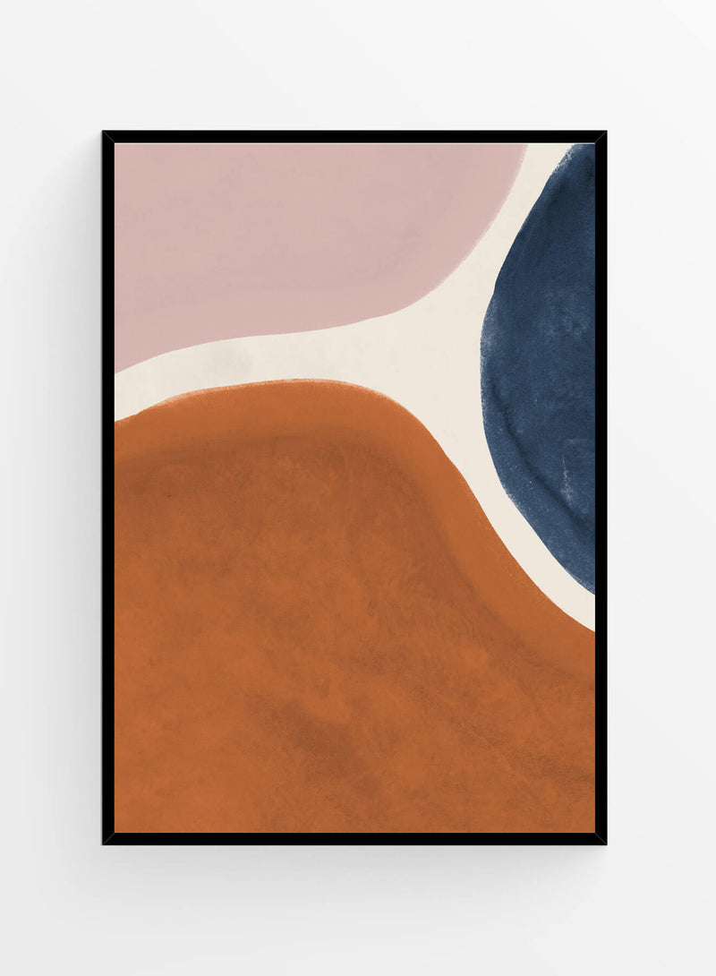Abstract earth tones 2 I Poster 21x30 cm