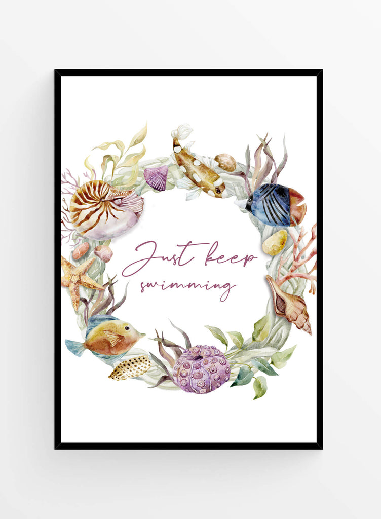 Just keep swimming | Art print