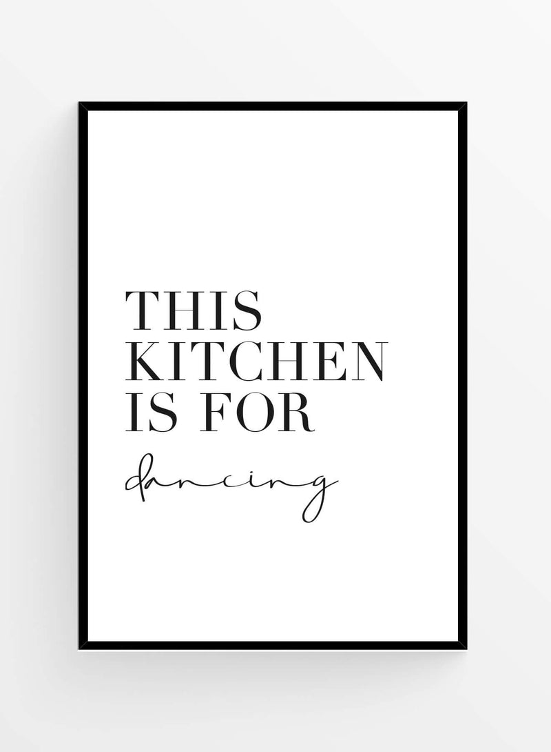 Kitchen for dancing | Art Print