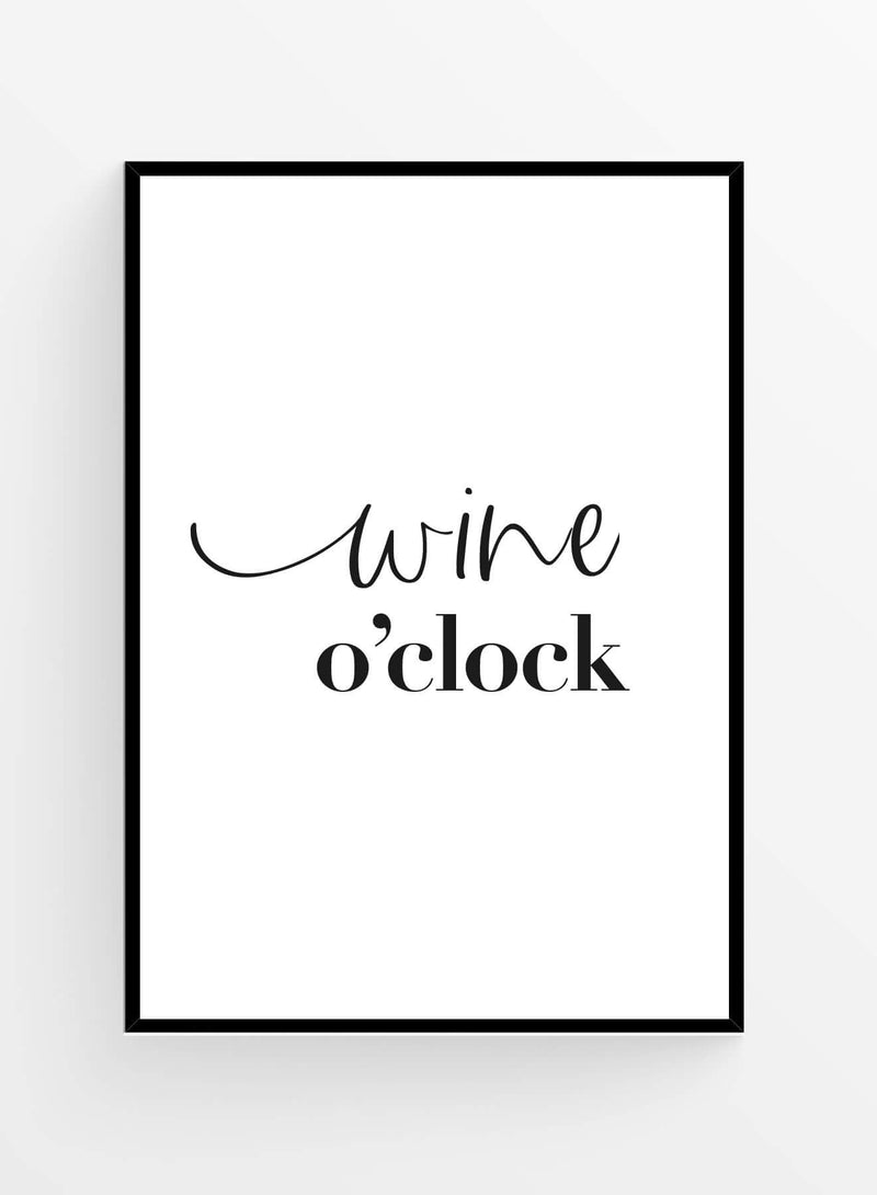 Wine o'clock | Poster