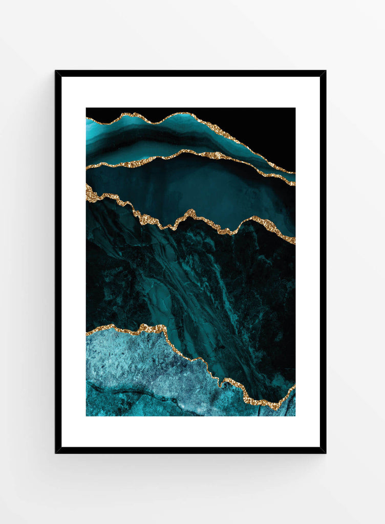 Blue agate 1 50x70cm | Poster