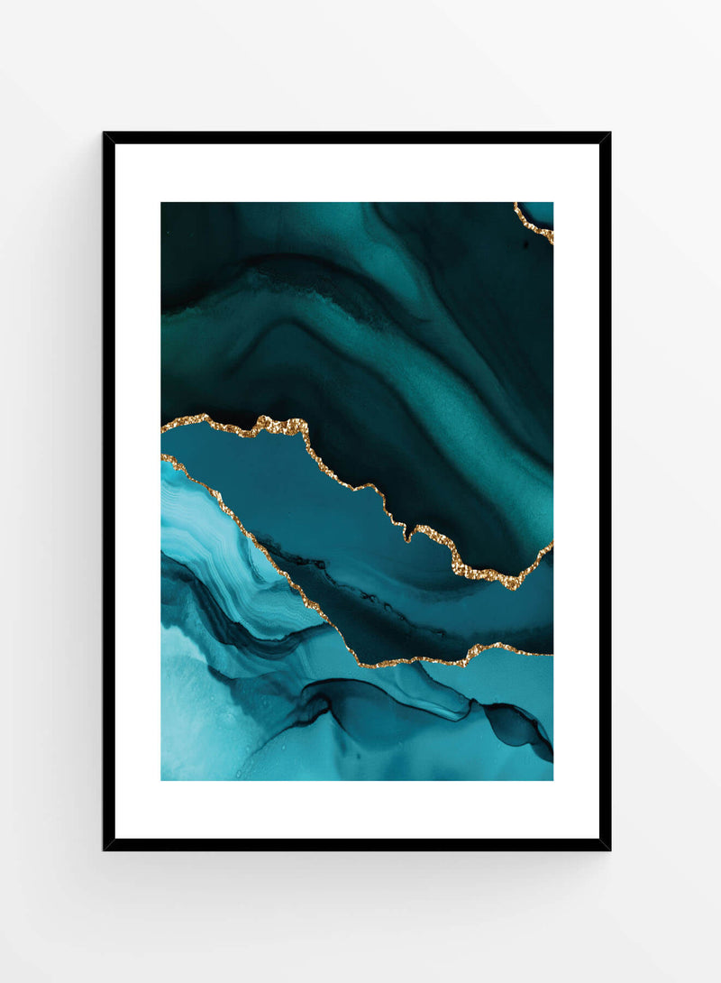 Blue agate 2 | Poster