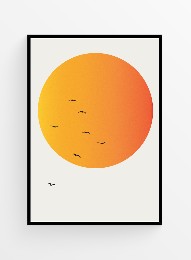 Birds flying high | Poster 40x50cm
