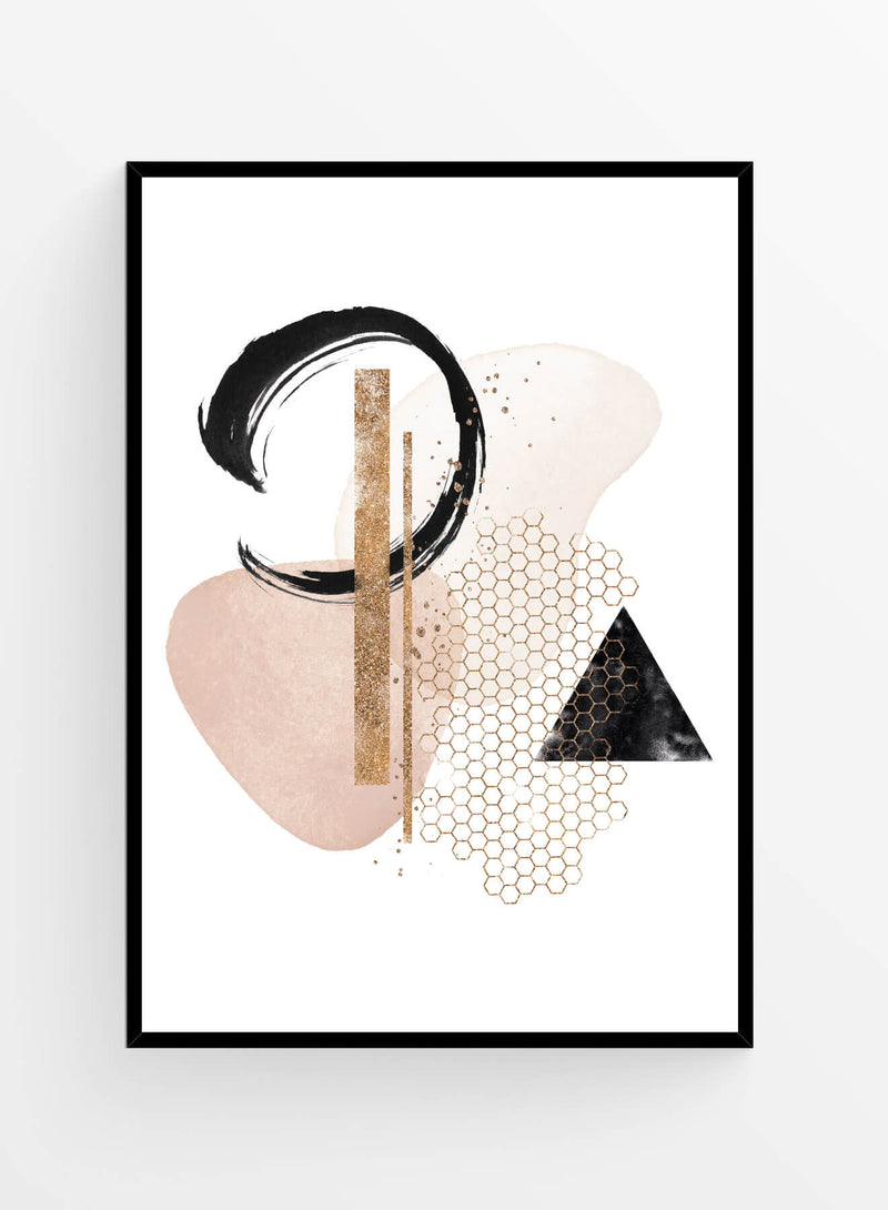 Abstract composition 5 | Poster 30x40cm