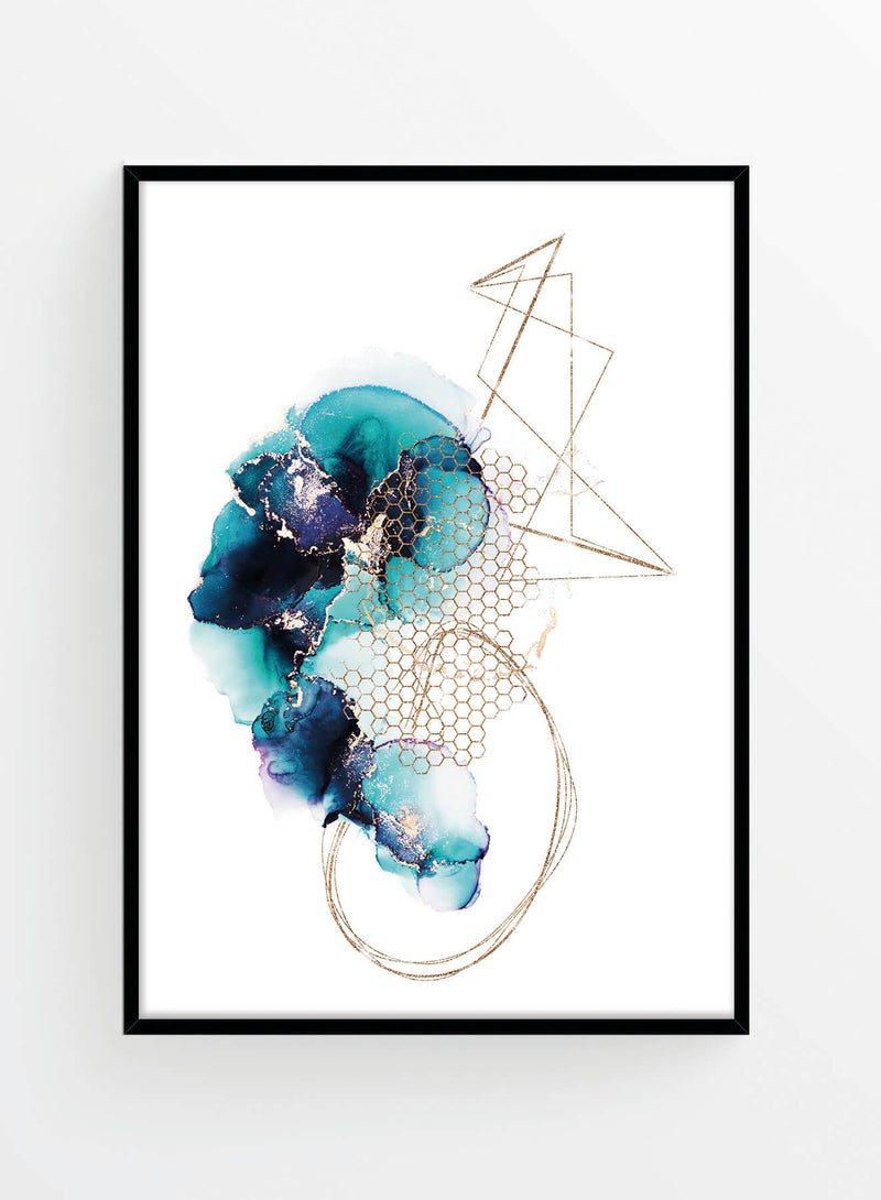 Gold azure ink 1 | Poster