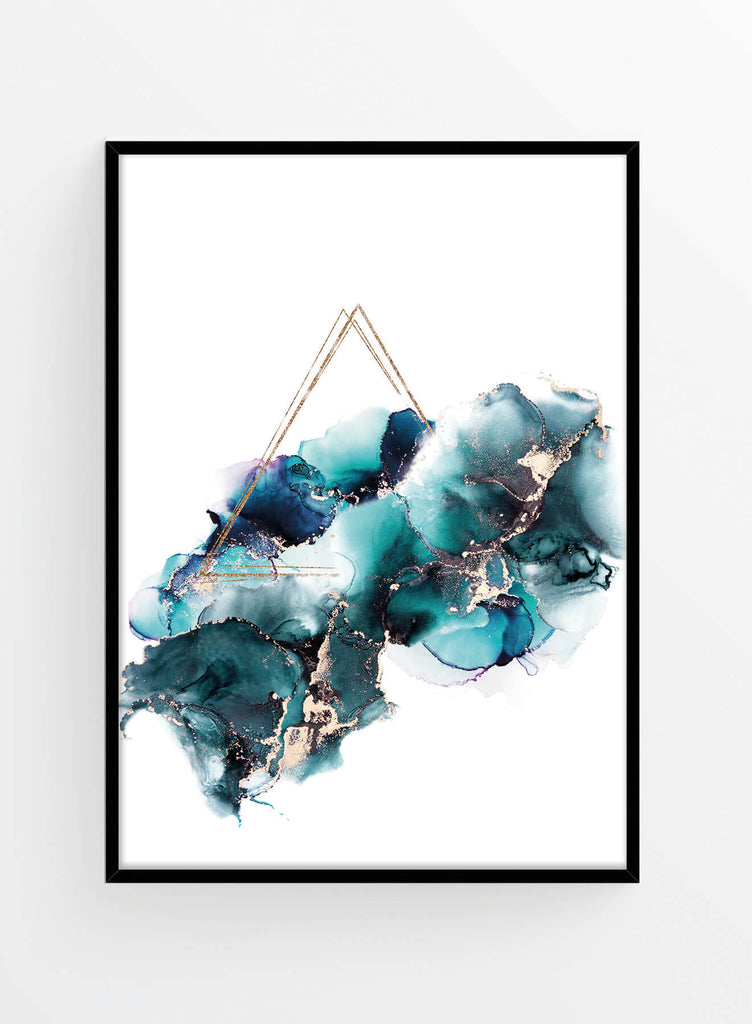 Gold azure ink 2 | Poster