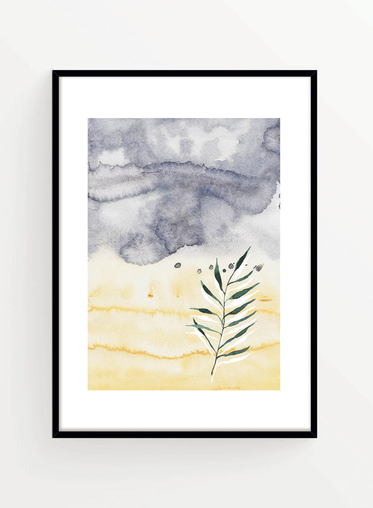 Watercolor blues 3 | Poster