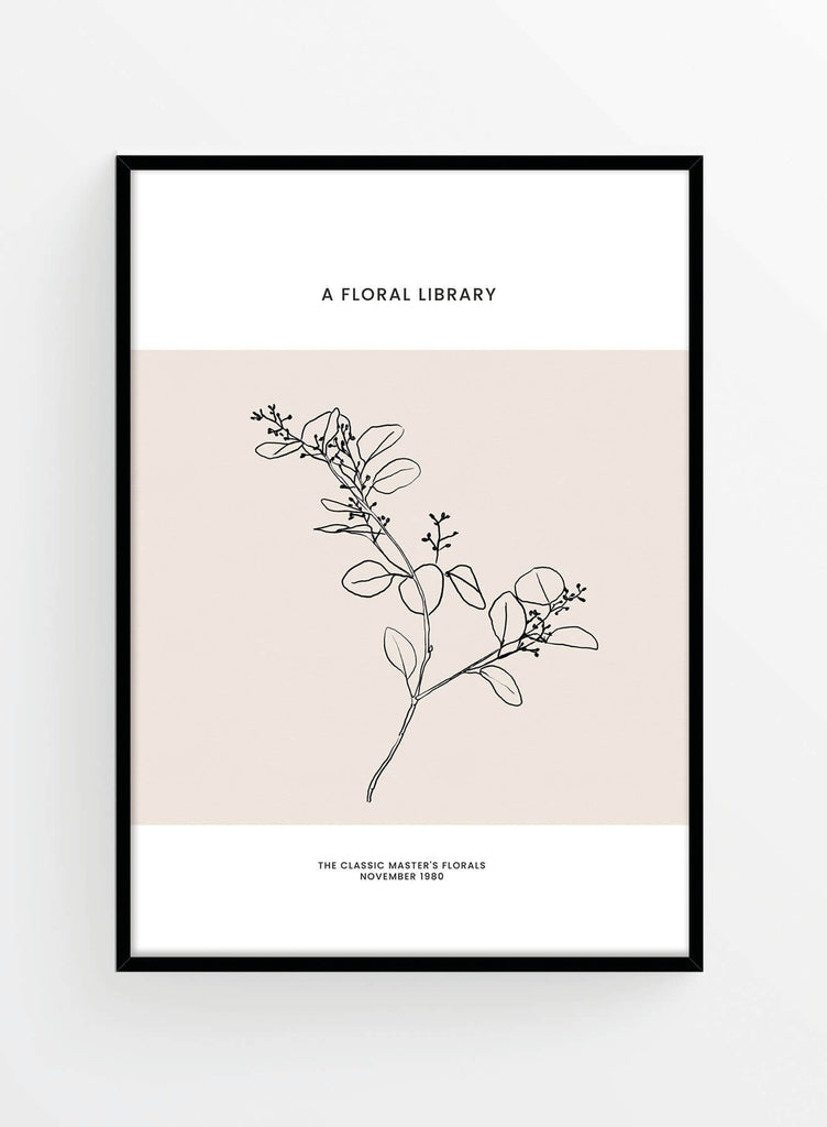 Poster decor scandinav pe fundal crem