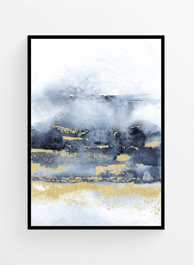 Blue Watercolor 1 | Art print