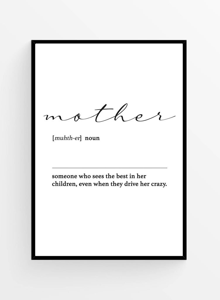 Mother dictionary I Poster 21x30cm