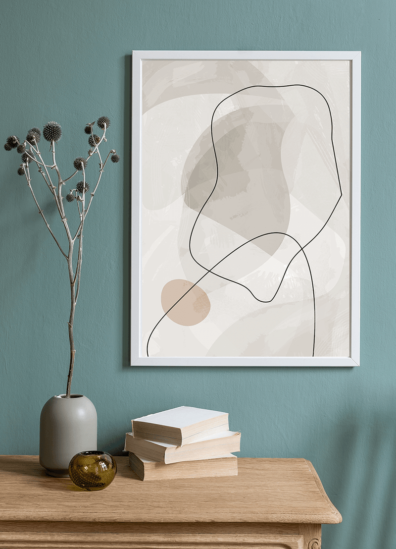 Abstract Grey I Art print