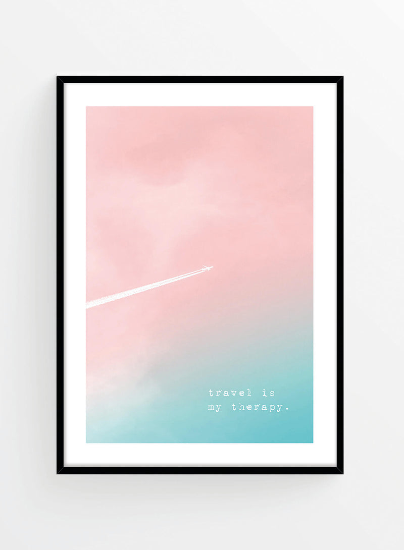 Travel is my therapy | Poster